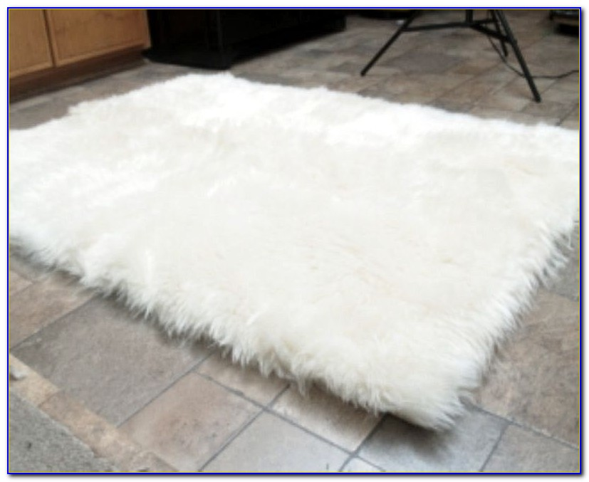 Furry White Rug