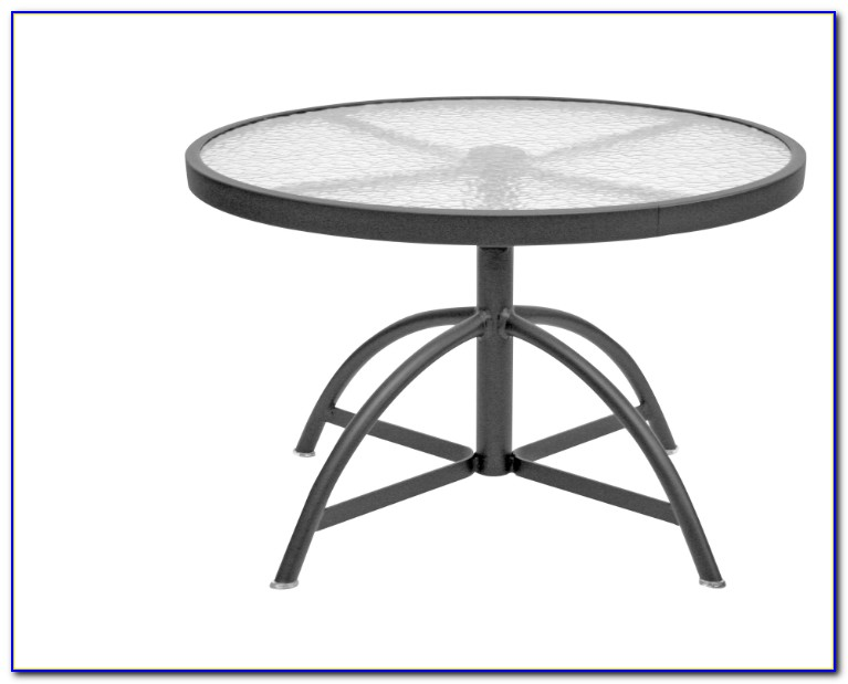 Glass Top Patio Table With Umbrella Hole