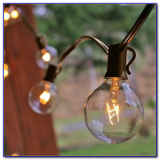 Globe Patio String Lights White Cord