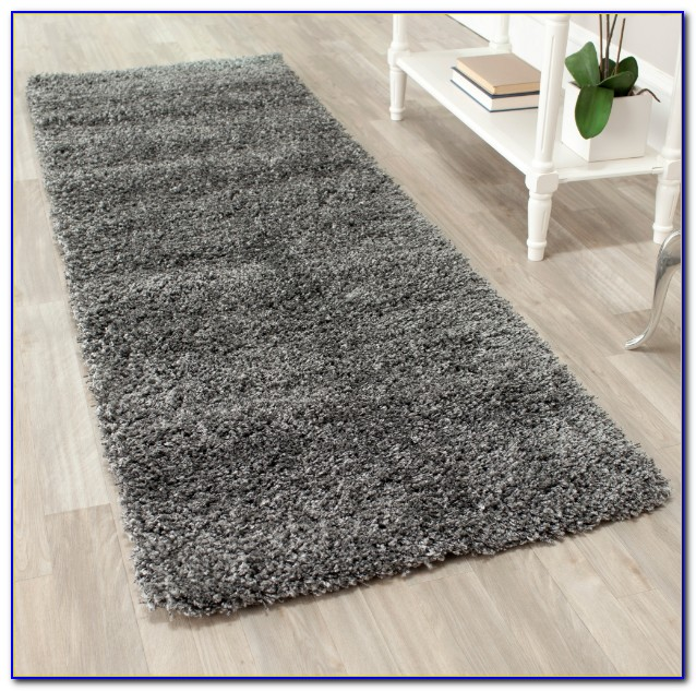 Grey Shaggy Rug Homebase