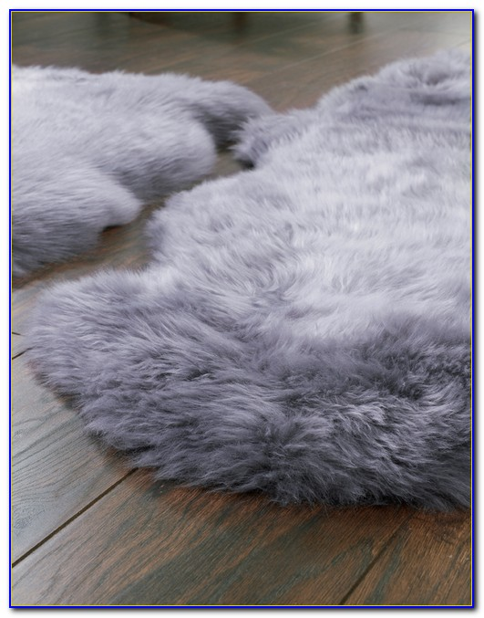 Grey Sheepskin Rug Large