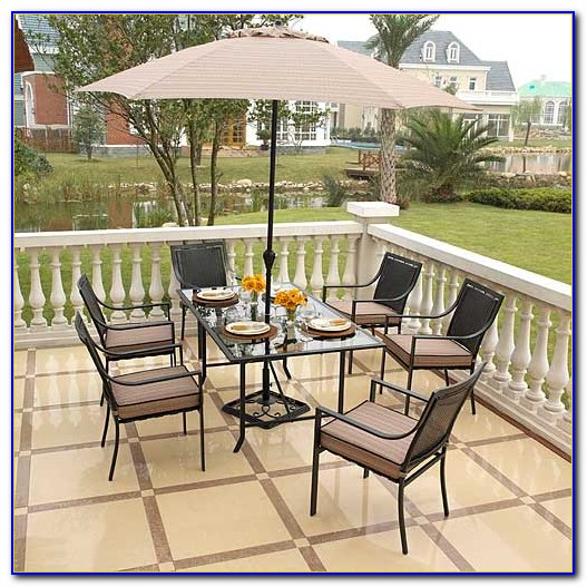 Hampton Bay Fall River 7 Piece Patio Dining Set