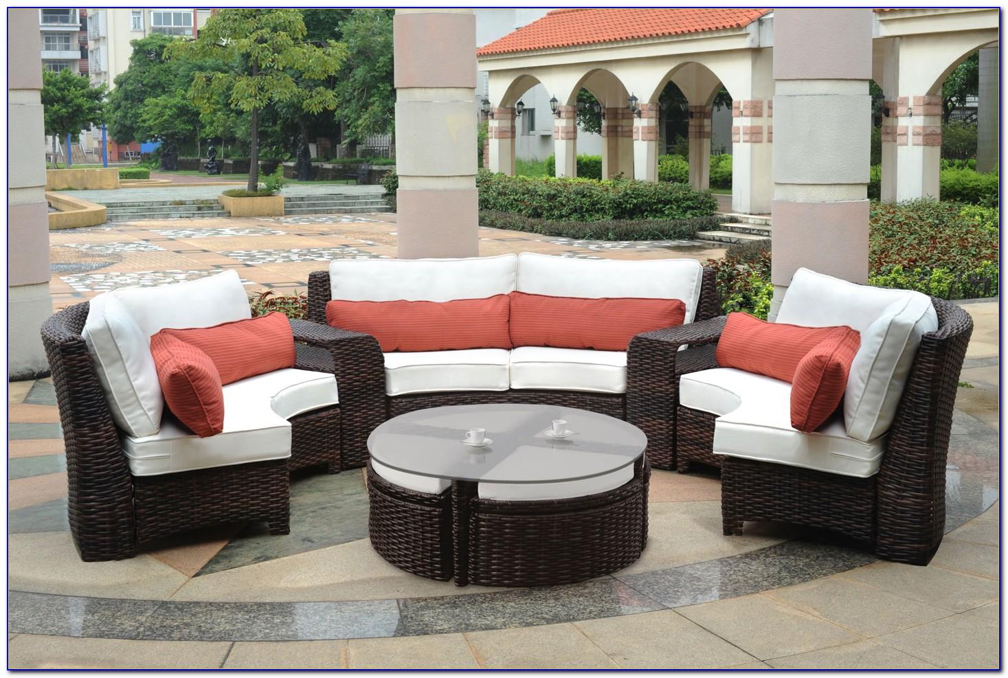 Honeylane Wicker Patio Sectional Sofa Furniture Collection