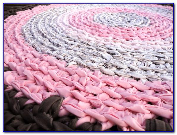 Hot Pink Rag Rug