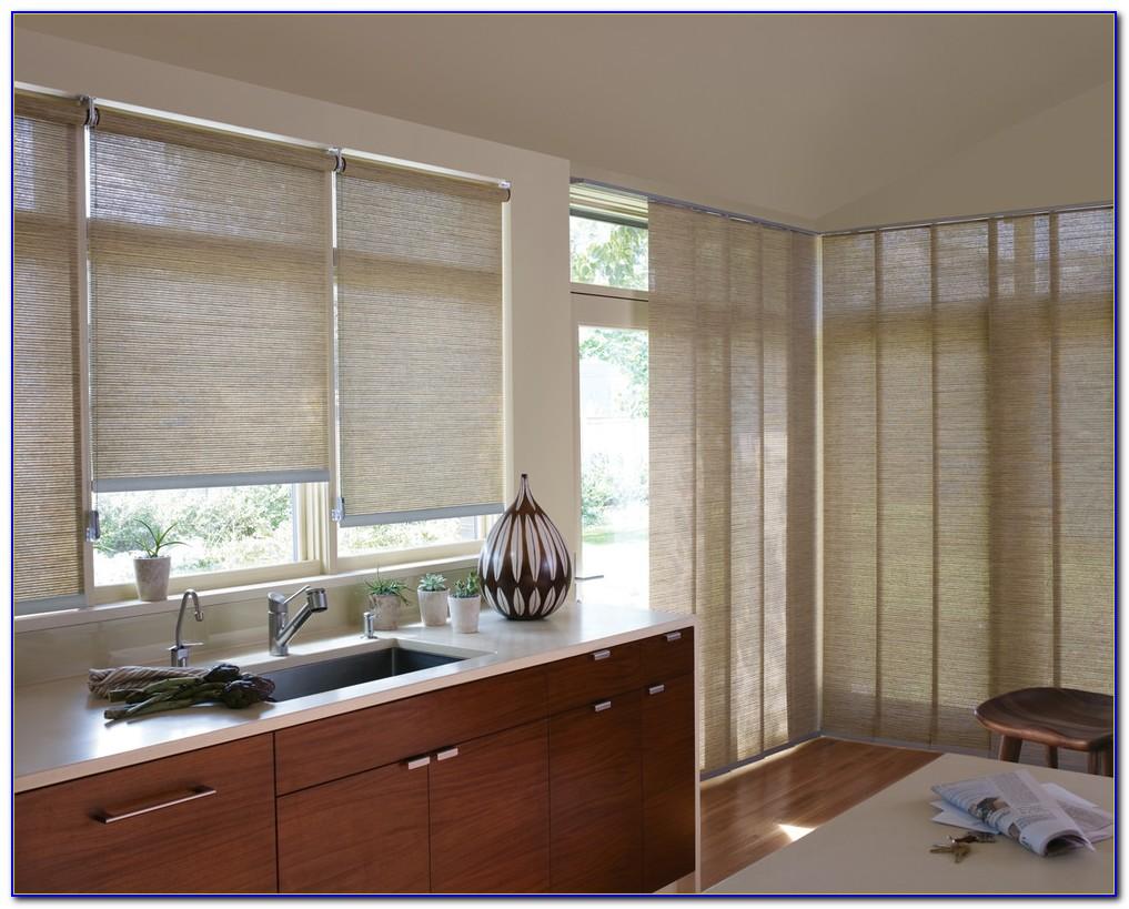 Kitchen Sliding Door Window Treatment Ideas