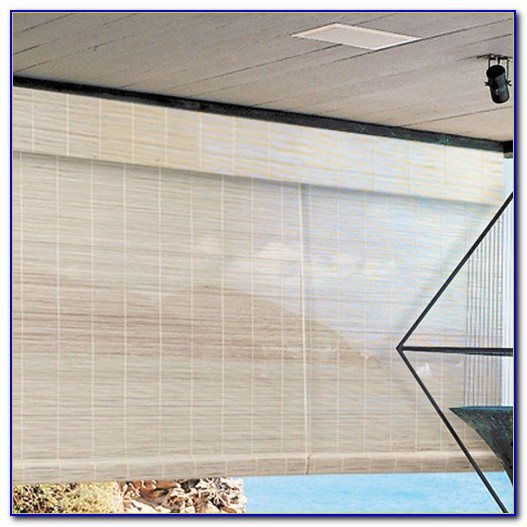 Large Bamboo Patio Blinds