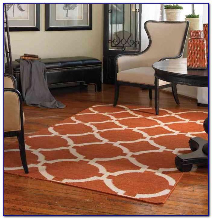 Large Burnt Orange Area Rug