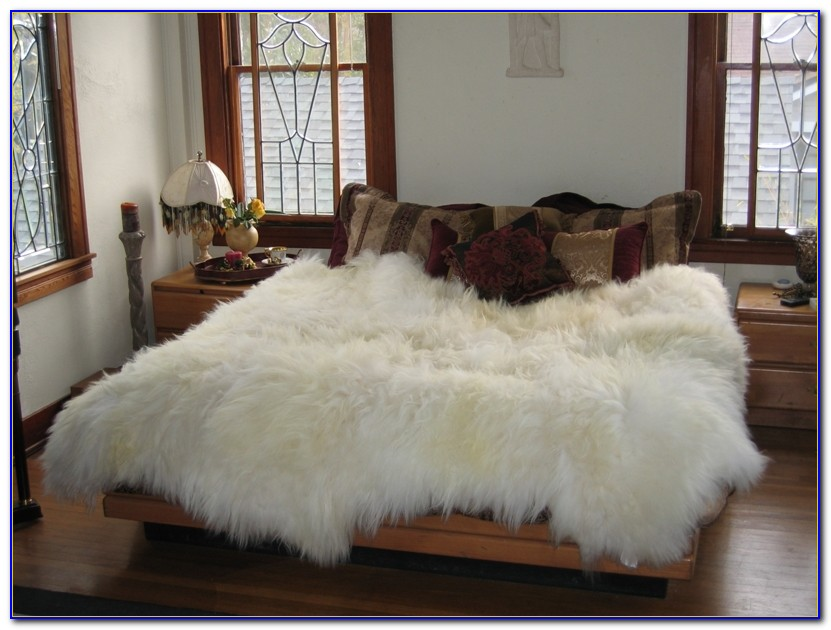 Large White Furry Rugs