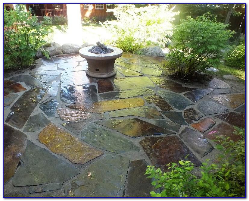 Laying Slate Stone Patio