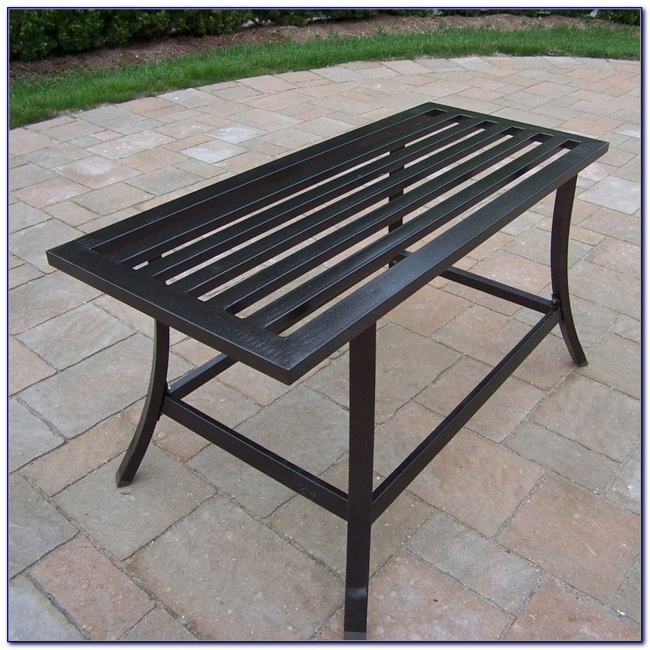 Metal Patio Table With Umbrella Hole