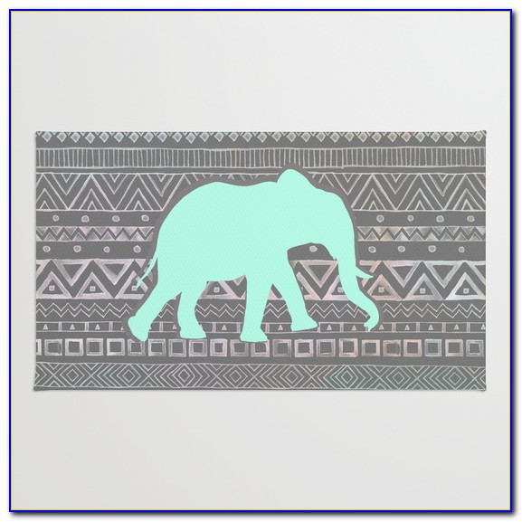 Mint And Grey Area Rug