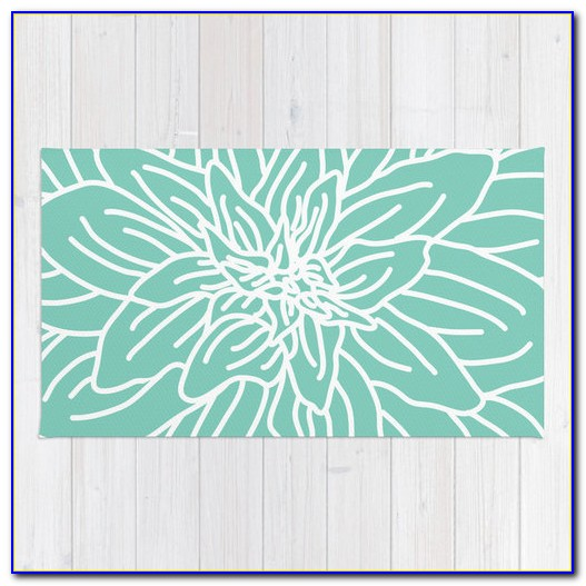 Mint Green And Brown Area Rug