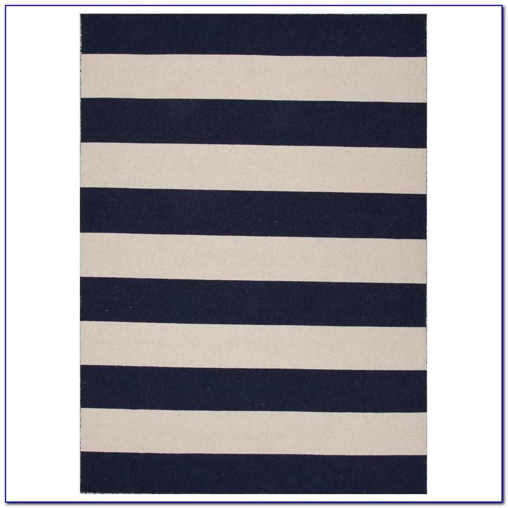 Navy And White Striped Rug Australia