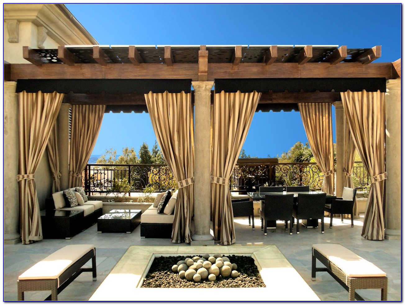 Outdoor Patio Drapes Curtains
