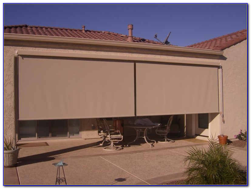 Outdoor Roll Up Patio Blinds