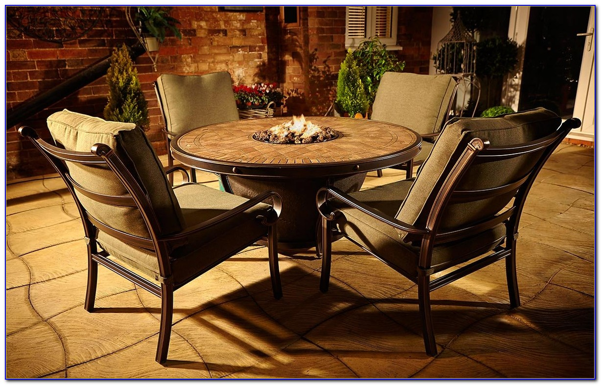 Outdoor Tables With Gas Fire Pit