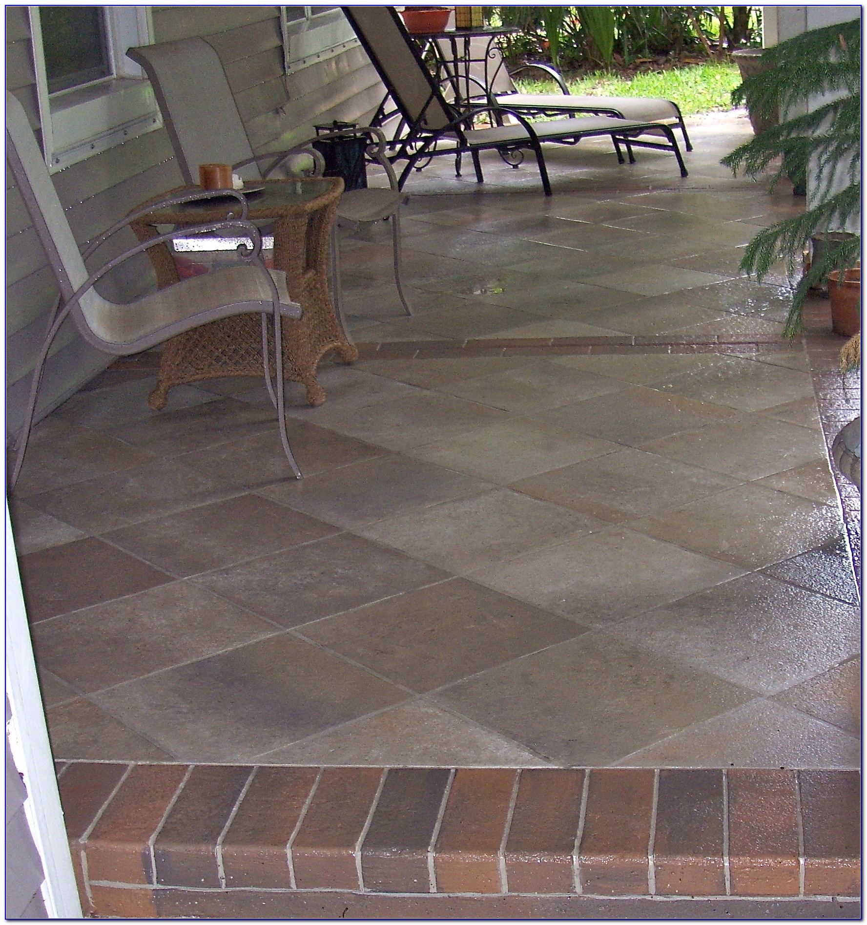 Outdoor Tile Over Concrete Patio