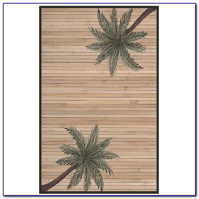 Palm Tree Rugs Bath