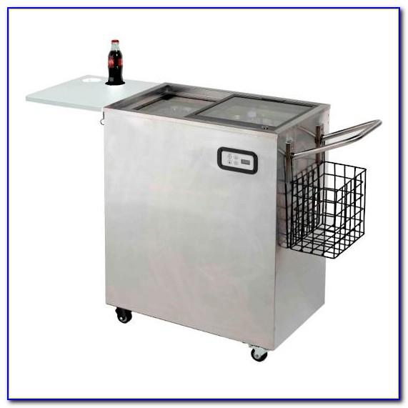 Patio Beverage Cooler Side Table
