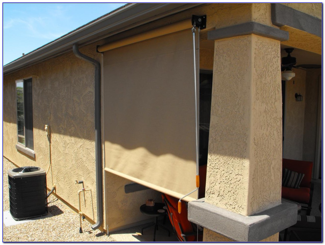 Patio Cover Roll Up Shades