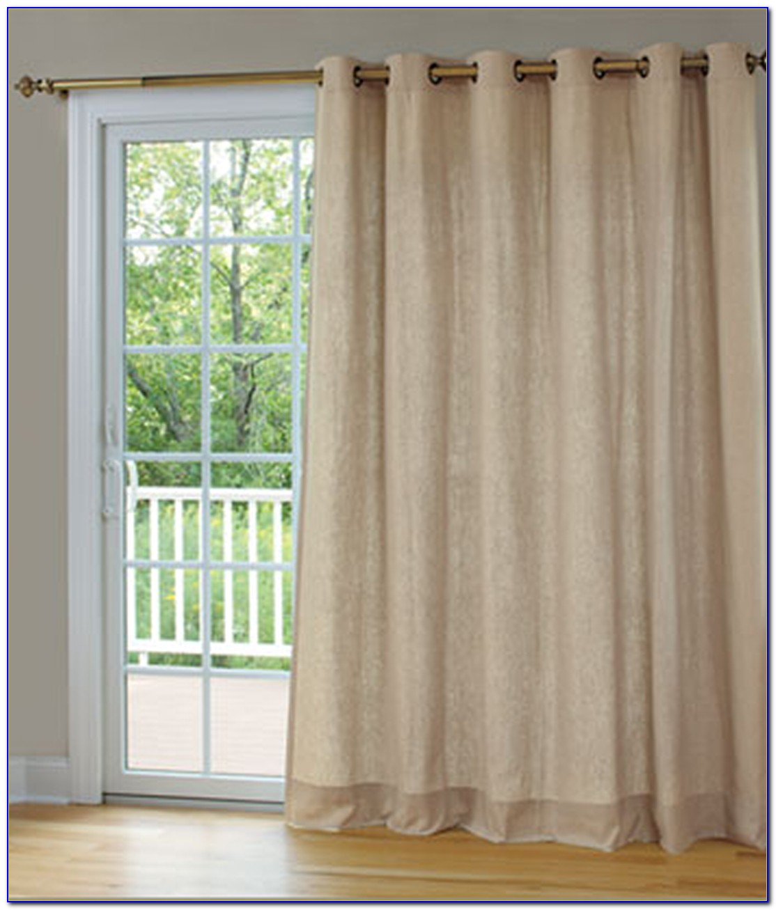 Patio Door Double Curtain Rods