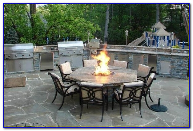 Patio Furniture With Fire Pit Table Costco