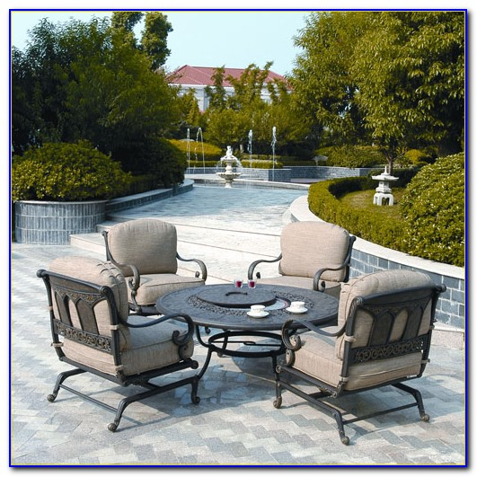 Patio Furniture With Gas Fire Pit Table