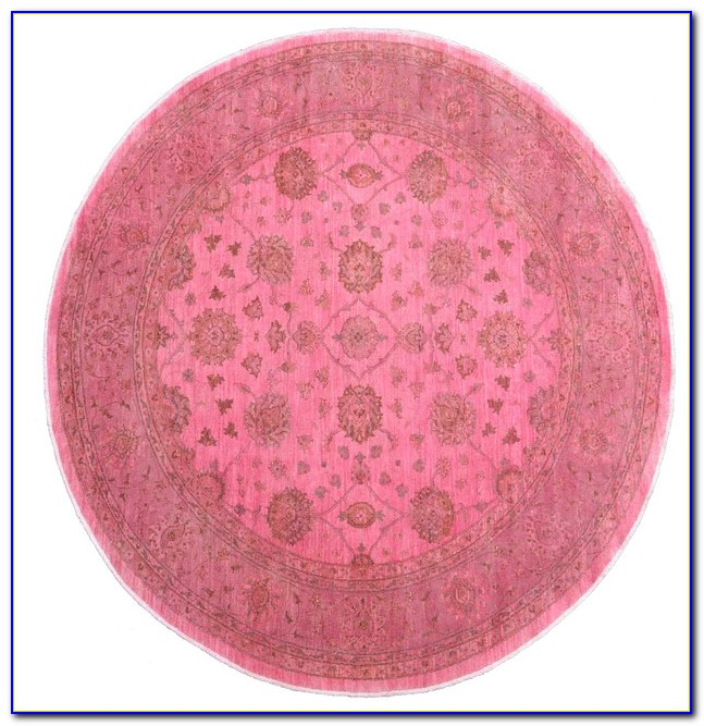 Pink And Turquoise Oriental Rug