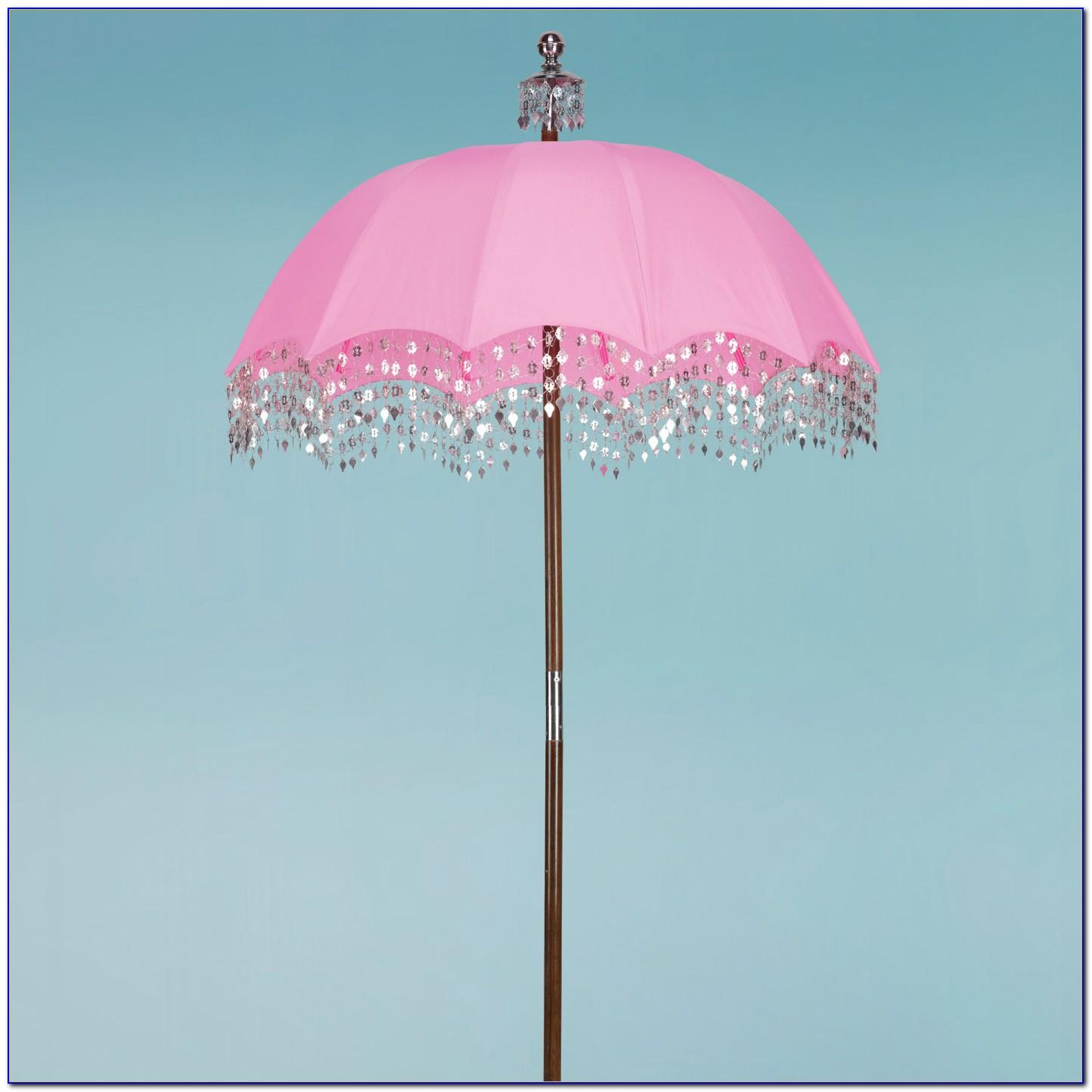 Pink Patio Umbrella Outdoor Furniture