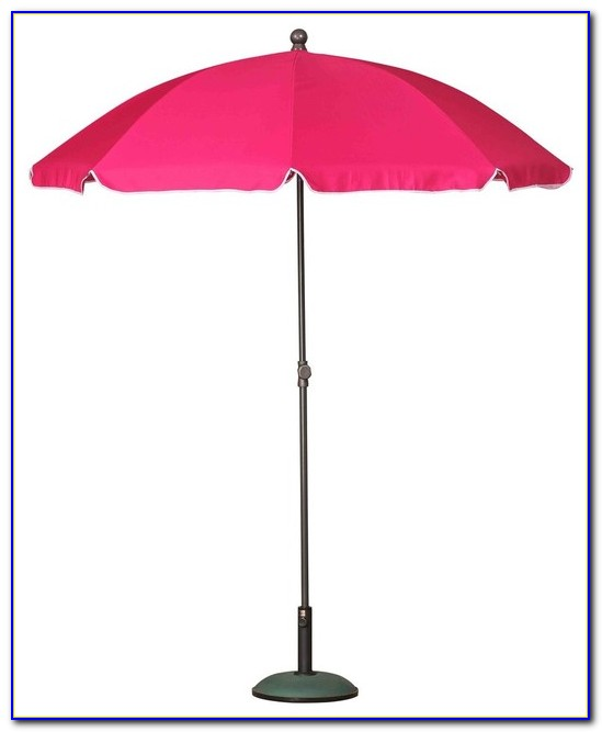 Pink Striped Patio Umbrella