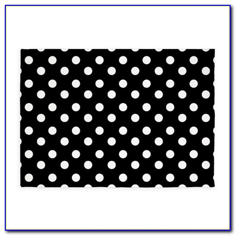 Polka Dot Rug Black And White
