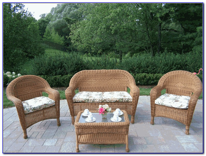 Resin Wicker Patio Chairs Stackable