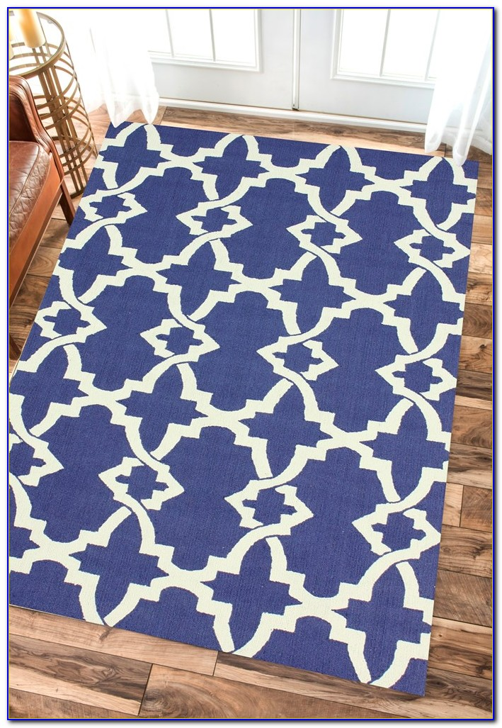 Royal Blue And White Area Rug