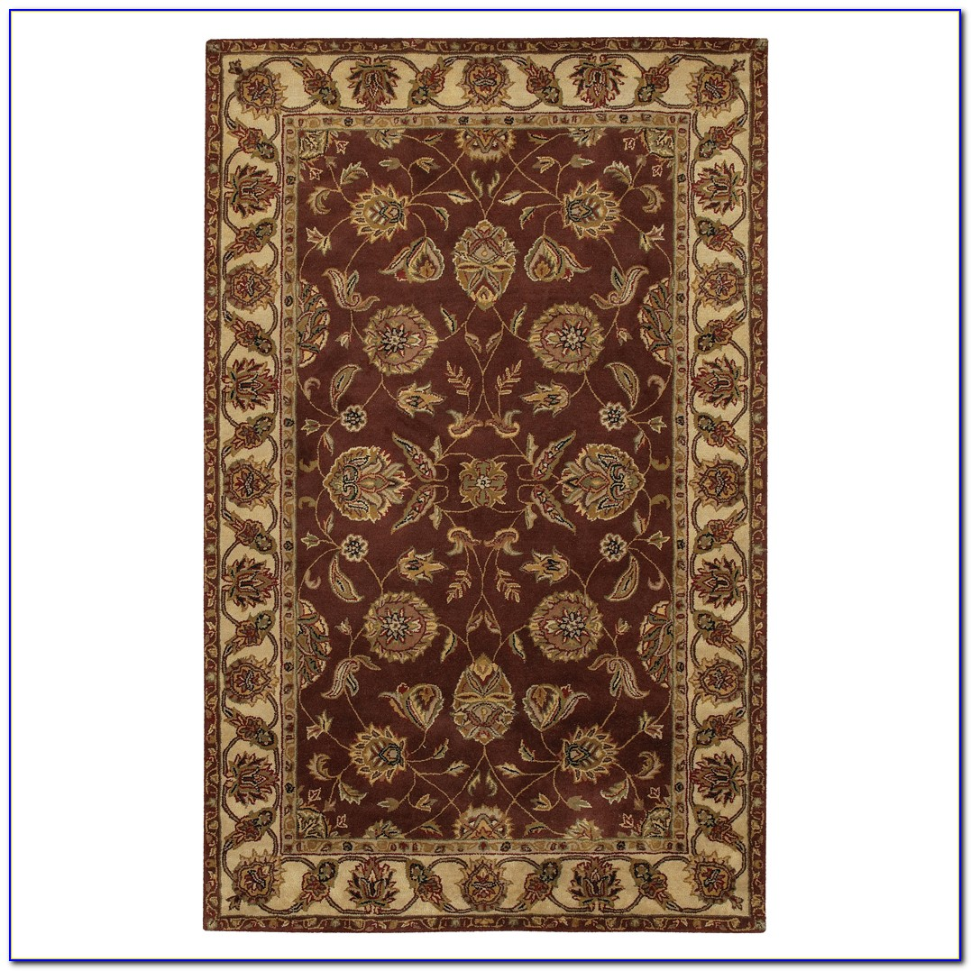 Sage Green And Brown Area Rug