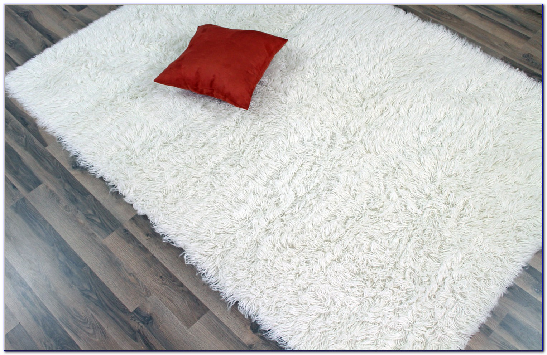 Small White Flokati Rug