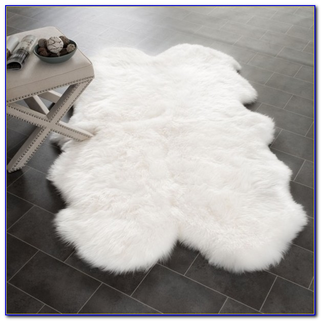 Soft Shaggy White Rug
