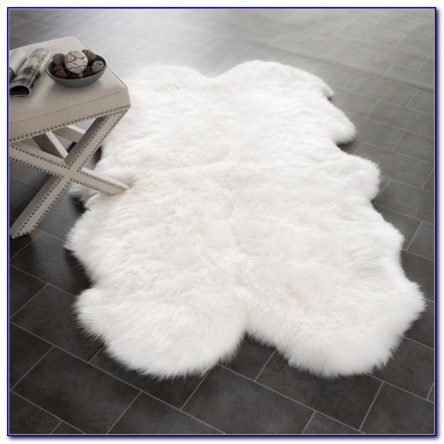 Soft Shaggy White Rug