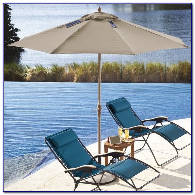 Solar Powered Led Patio Umbrella