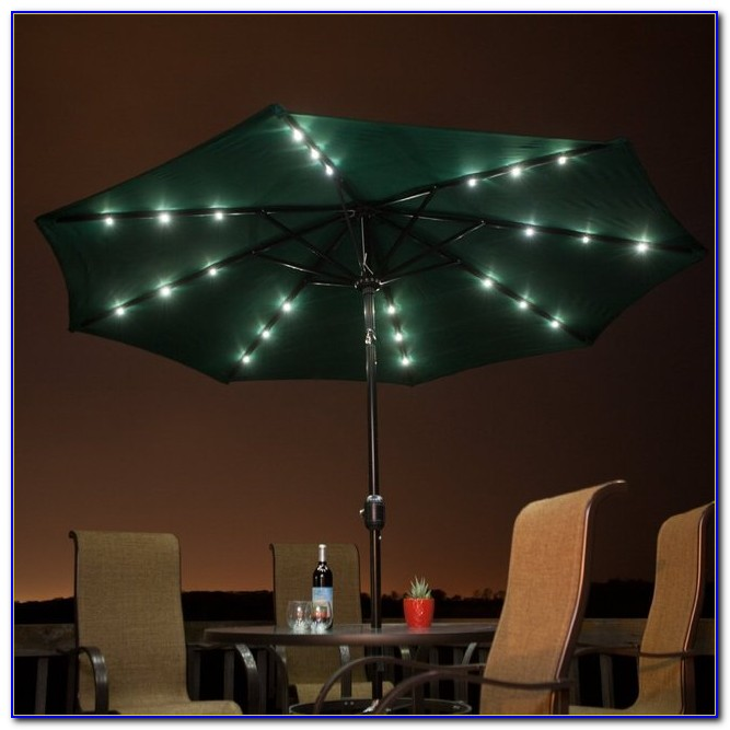 Solar Powered Patio Umbrella Led Lights