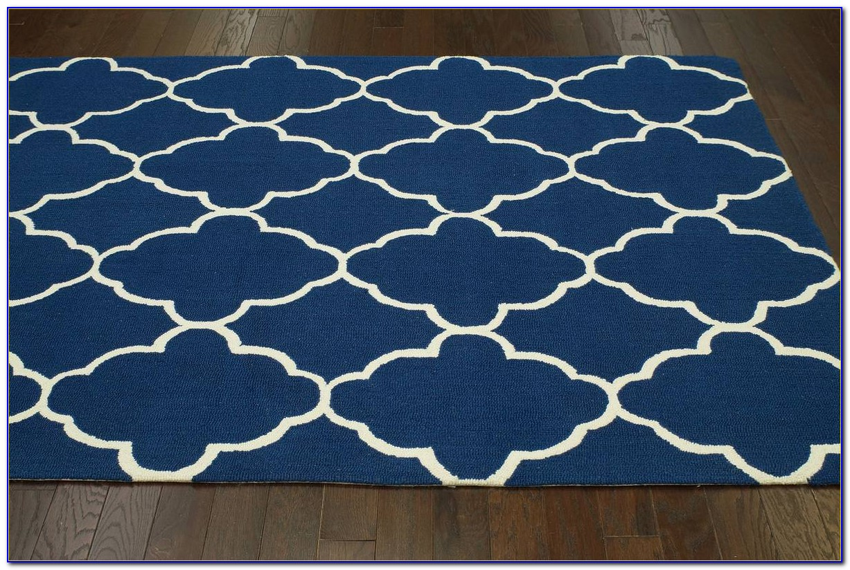 Solid Royal Blue Area Rug