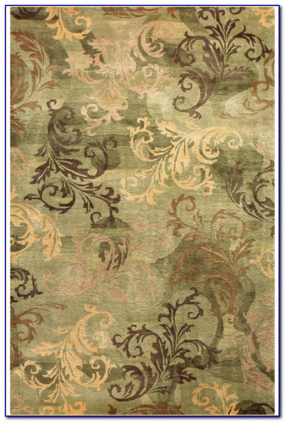 Solid Sage Green Area Rug