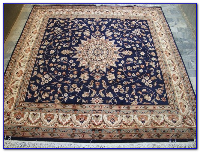 Square Rugs 6x6 Blue
