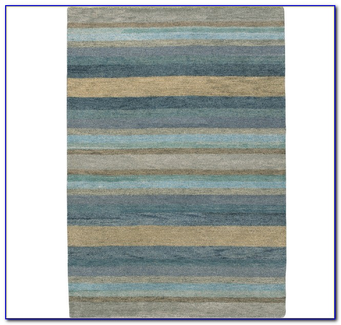 Striped Area Rugs Blue