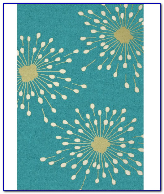 Turquoise Outdoor Patio Rug