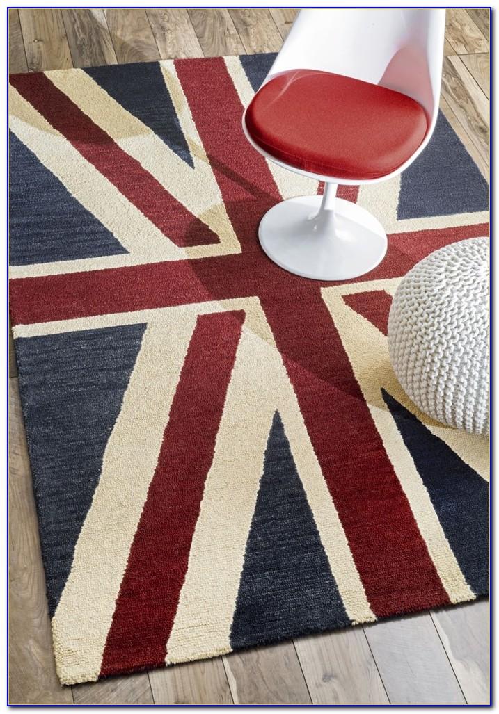 Union Jack Rug Wool