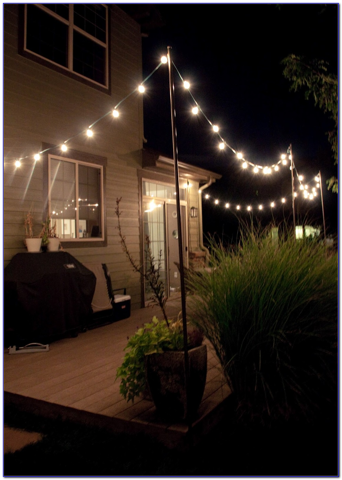 Vintage Patio Globe String Lights Black Cord