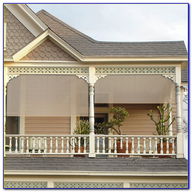 Vinyl Roll Up Patio Blinds