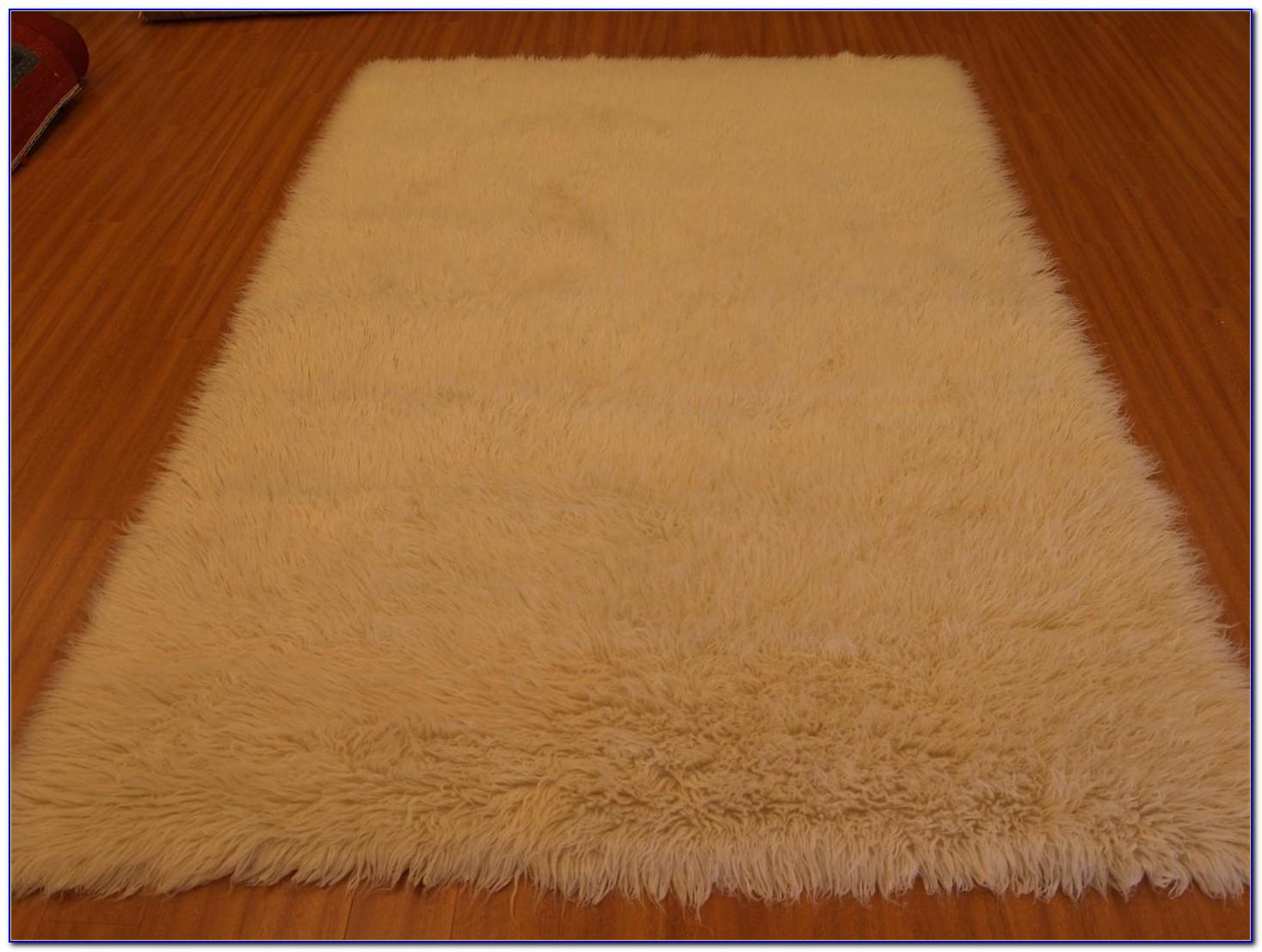 White Flokati Rug 4x6