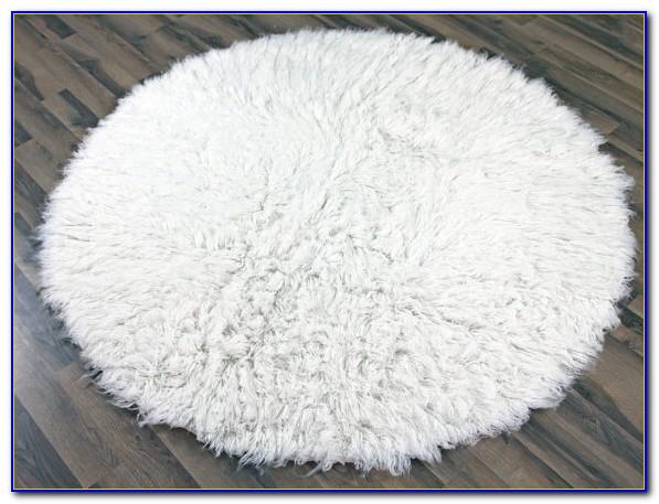 White Flokati Rug 5x7