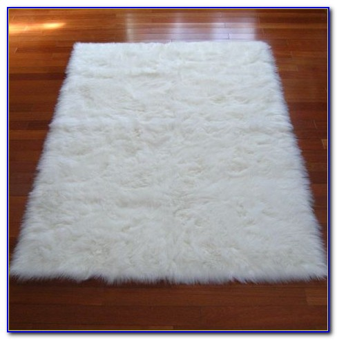 White Furry Rug Ebay